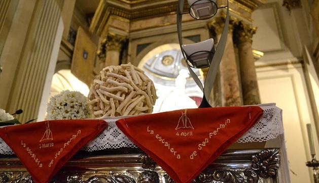 Los pamploneses celebran la penúltima eucaristía antes de San Fermín
