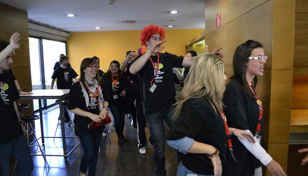 Algunos alumnos que participaron en el taller de LIB-DUB.