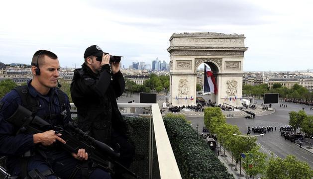 Imágenes sobre la conmemoración de la II Guerra Mundial