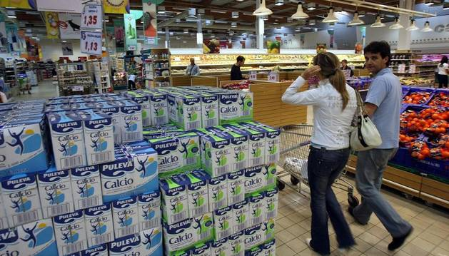 En un supermercado de Navarra