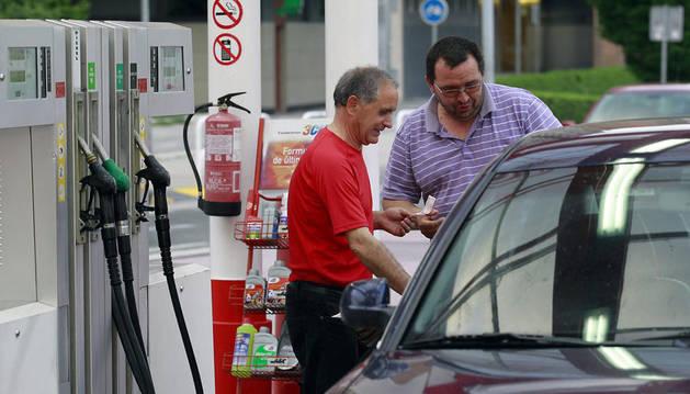 Una gasolinera navarra