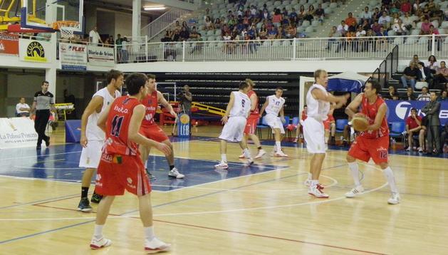 EL Grupo Iruña, durante su partido ante La Palma