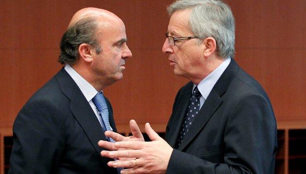 De Guindos con el presidente del Eurogrupo