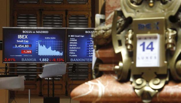 Imagen de la Bolsa de este lunes 14 de mayo