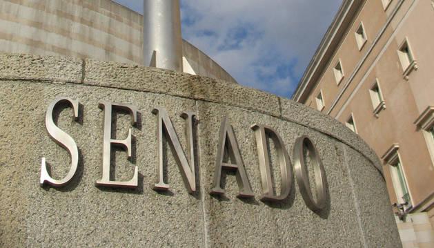Letrero del Senado español
