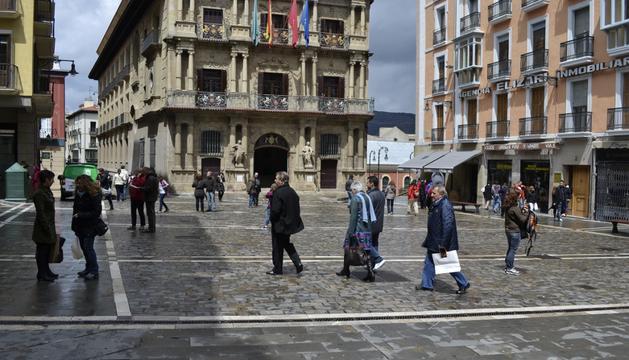 La plaza Consistorial, la semana pasada