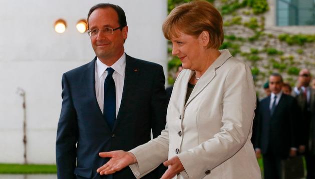 Merkel y Hollande, en Berlín