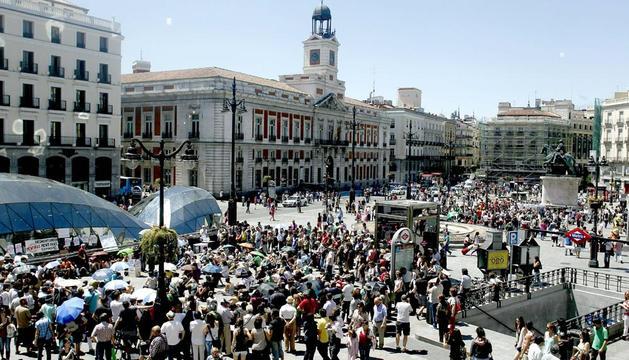 Imagen de la Puerta del Sol de este martes 15 de mayo