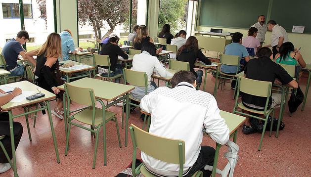 Alumnos de ESO del IES Navarro Villoslada, donde se desarrollará el programa