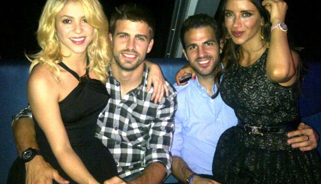 La foto que ha subido a Twitter el futbolista Gerard Piqué junto a Shakira