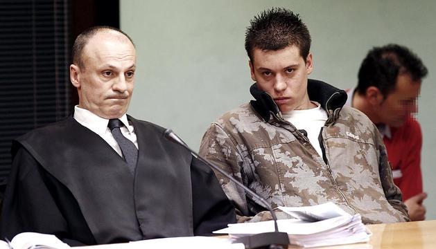 Imágenes del juicio por el crimen de Asier Lavandera en enero de 2010 en Lekunberri