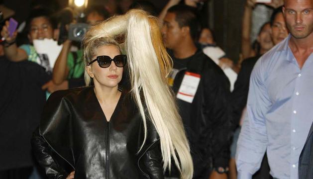 Lady Gaga, a su llegada a Manila