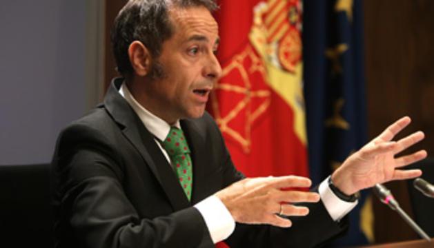 El portavoz del Gobierno, Juan Luis Sánchez de Muniáin