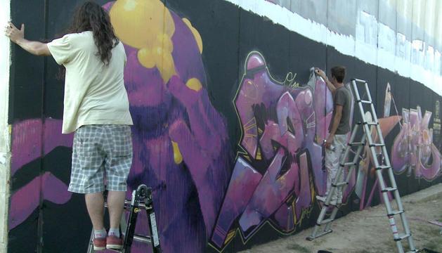 Fotograma de 'La piel de los muros', documental de Ángel Sánchez Garro sobre el grafiti en Navarra