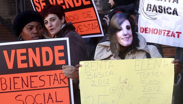 Protesta de la Plataforma en Defensa del derecho a la Renta Básica