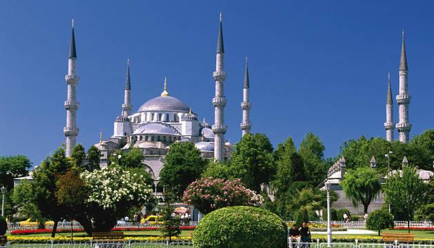 Vista de la Mezquita de Estambul.