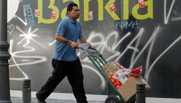 En una sede de Bankia