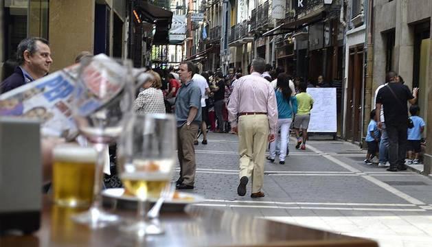 Buen ambiente en la celebración del día del Casco Viejo de Pamplona