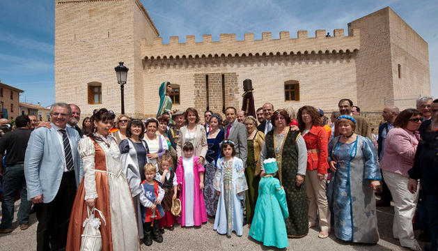 En la inauguración del Castillo de Marcilla