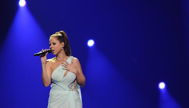 Pastora Soler durante un ensayo para la gala de Eurovisión.