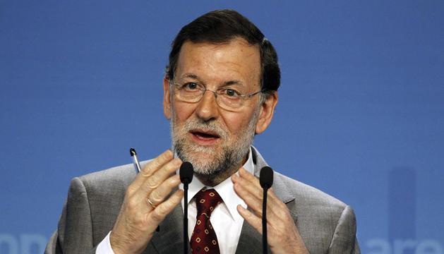 Mariano Rajoy, durante su comparecencia tras el Comité Ejecutivo del PP