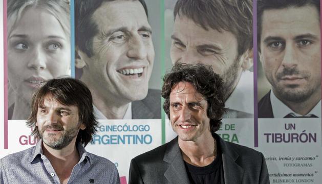 Los actores Fernando Tejero (i) y Diego Peretti (d), en la presentación de