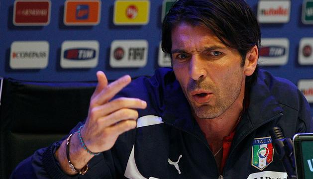 Gianluigi Buffon, durante una rueda de prensa