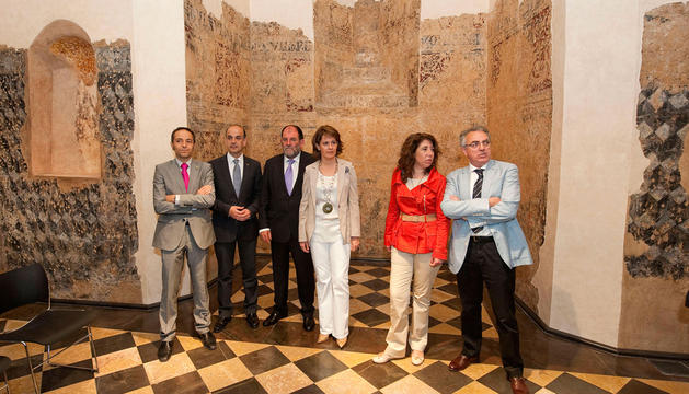 La Presidenta Barcina en la inauguración de la restauración del castillo de Marcilla