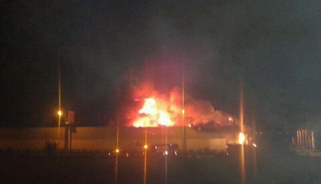 Imagen del incendio de Cárnicas Floristán