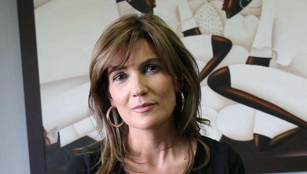 Laura Sandúa, en su despacho de Aceites Sandúa de Ablitas