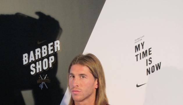 Sergio Ramos, durante el acto publicitario de este viernes