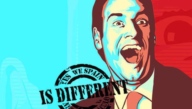 El perfil de Carlos Latre en un montaje que imita la pasada campaña electoral de Barack Obama
