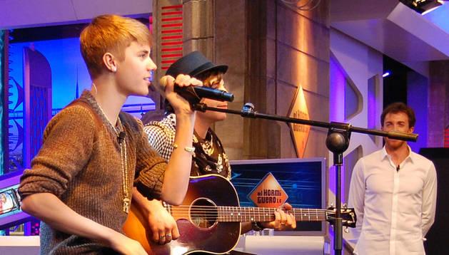 El cantante Justin Bieber, en 'El Hormiguero'