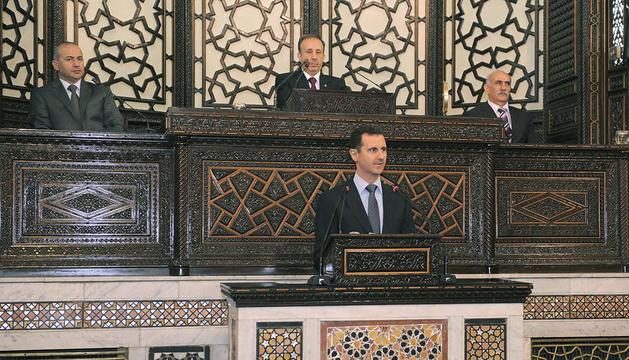 Bachar al Asad, en su comparecencia ante el Parlamento sirio