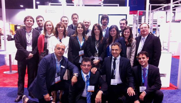Representantes del Gobierno de Navarra y de empresas del sector eólico en la feria Windpower 2012 de Atlanta.