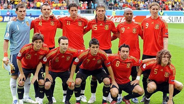 La Selección Española posa antes de un encuentro internacional