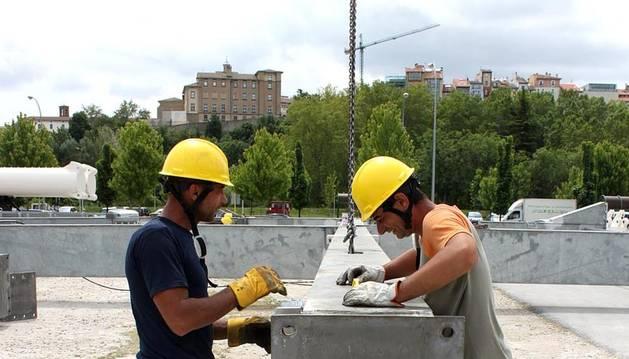 Hoy se ha iniciado la construccion e la gran noria