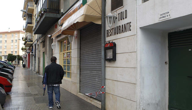 Bar donde se produjeron los hechos en Ansoáin