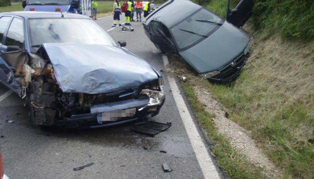 Los vehículos implicados en el accidente