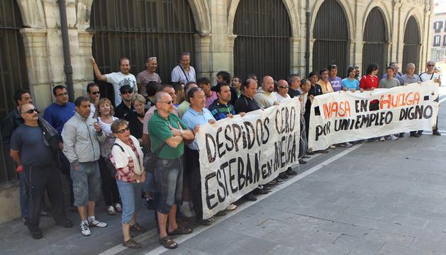 Los trabajadores de Asientos Esteban, en una concentración el pasado 5 de junio
