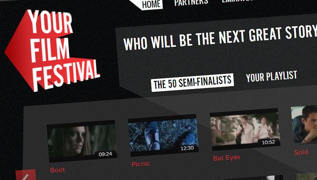 Página principal de la plataforma digital donde los ciudadanos pueden votar los mejores cortos