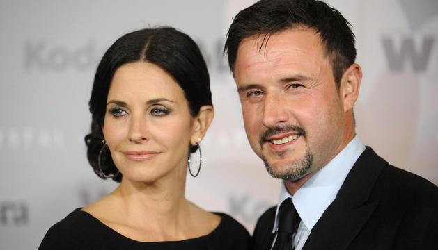 La actriz  Courteney Cox  junto a su marido David Arquette
