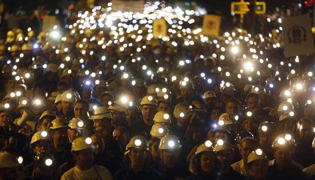 Manifestación en León en defensa del carbón