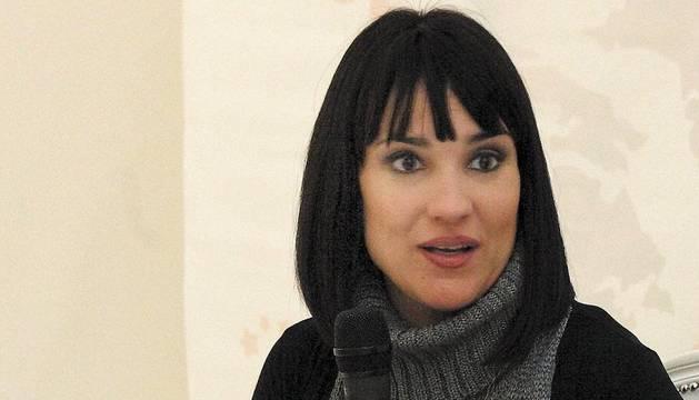 Irene Villa, en una charla reciente en Pamplona.