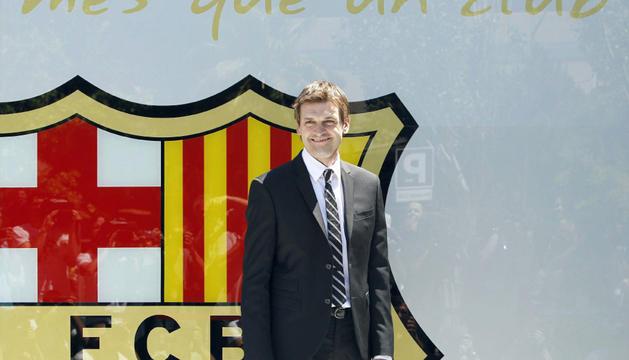 Tito Vilanova, en su presentación como nuevo entrenador del Barcelona