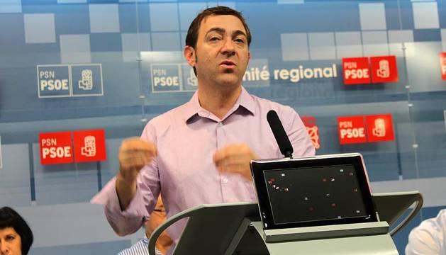 Roberto Jiménez ha comparecido en el comité regional celebrado este sábado en Pamplona