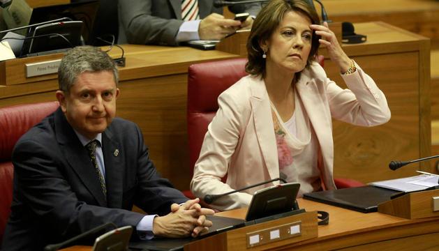 Barcina y Miranda, en el Pleno del viernes