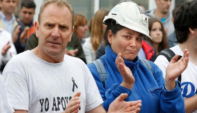 En una de las protestas de los mineros