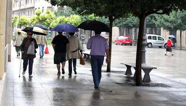Imágenes del clima en la capital navarra este martes, 19 de junio