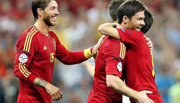 Imágenes de la victoria de España
